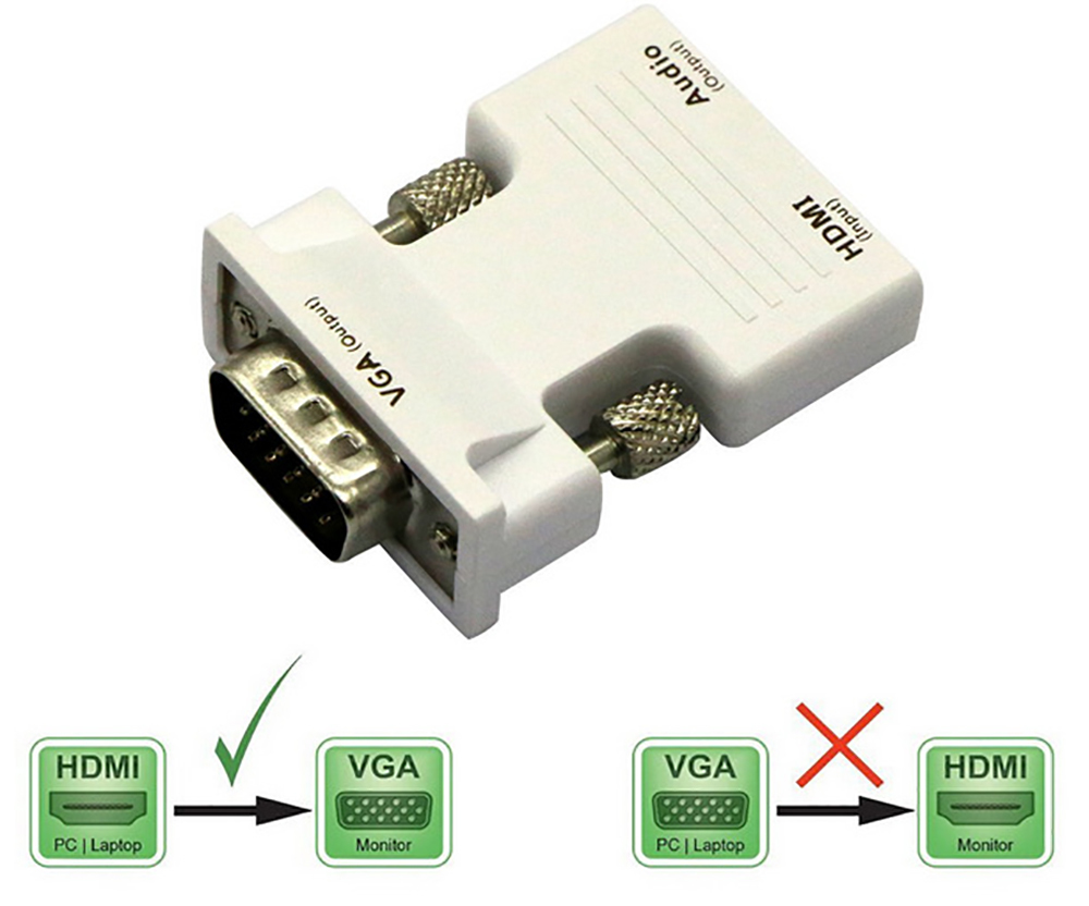 how to connect hdmi set top box to vga monitor